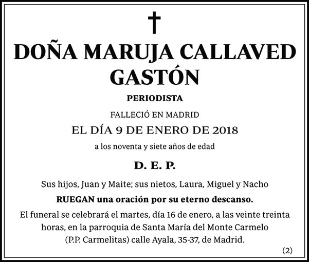 Maruja Callaved Gastón